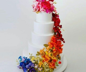 beautiful, cake, and colors image