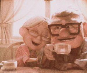 happy, movie, and old couple image