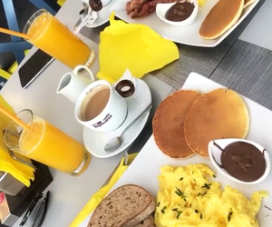 breakfast, friends, and drink image