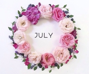 flowers, july, and pink image