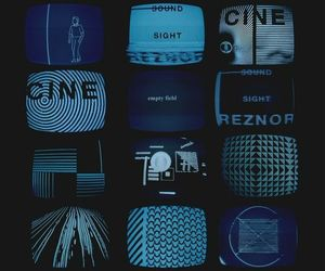blue, tv, and aesthetic image