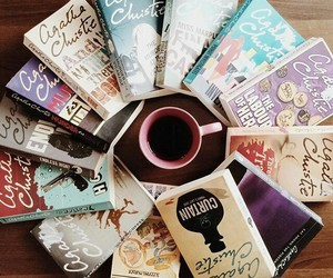 book, agatha christie, and coffee image