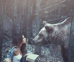 animals, bear, and woman image