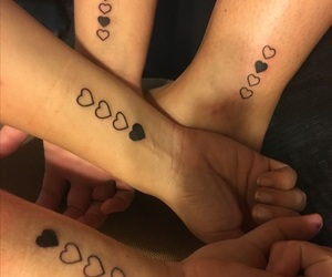 friend, tattoo, and 4 people image