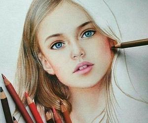 art, beautiful, and girl image