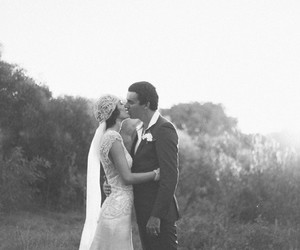 black and white, bride, and classic image