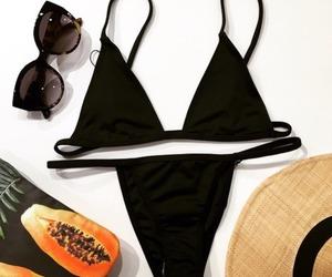 bikini, fashion, and sunglasses image