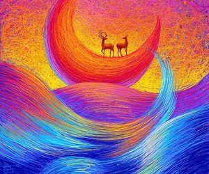 animals, art, and blue image