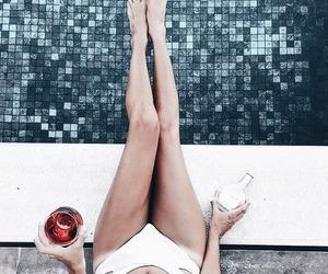 bikini, drinks, and summer image