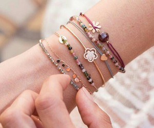 bracelets, flowers, and jewelries image