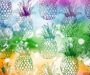 colourful, easel, and pineappel image