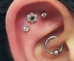 piercing and earrings image