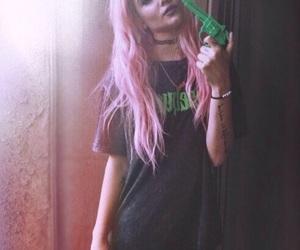 halsey, grunge, and pink image