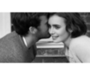 lily collins, couple, and love rosie image