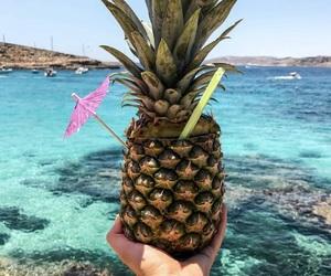 ananas, food, and beach image