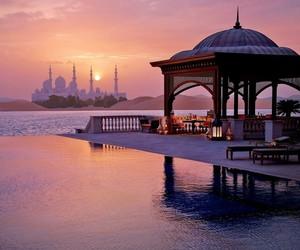 view, abu dhabi, and beautiful image