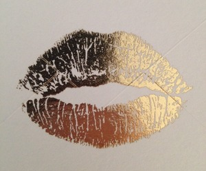 kiss, Burberry, and gold image