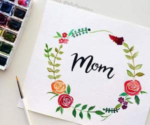 mom, flowers, and art image