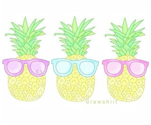 overlay, pastel, and pineapple image
