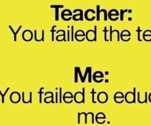 school, funny, and quote image