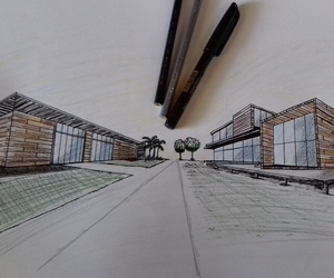 architecture, croqui, and drawing image