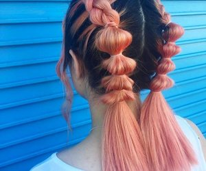 braids, colored hair, and girl image