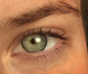 blink, blue eyes, and brow image