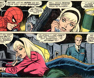 spiderman, peter parker, and gwen stacy image