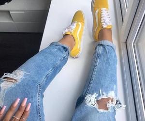 yellow, fashion, and vans image