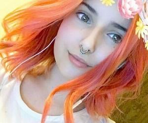 julia, orange hair, and youtuber image