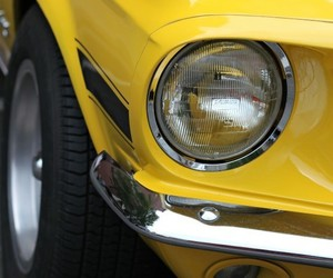yellow, cars, and mustang image