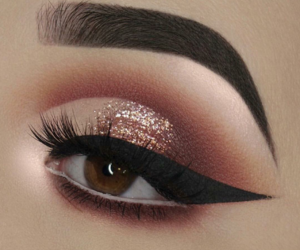 eyeshadow, lashes, and wing image