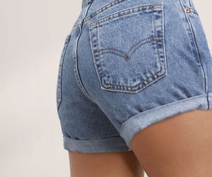 denim, shorts, and outfit image