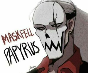 papyrus, undertale, and maskfell image