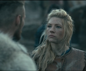 vikings, kathryn winnick, and norse gods image