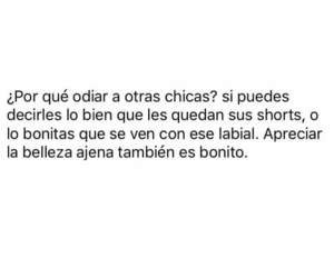 chicas, frases, and girls image