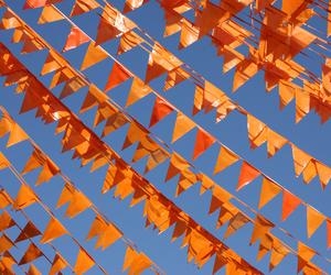 orange, blue, and aesthetic image