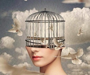 cage, mind, and clouds image