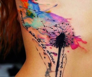 tattoo, quotes, and watercolor image