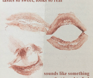 quotes, lips, and kiss image