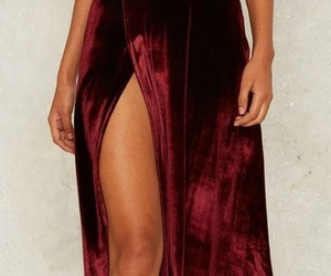 gown, red, and sexy image