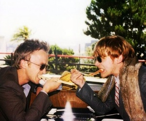 tom felton, rupert grint, and harry potter image