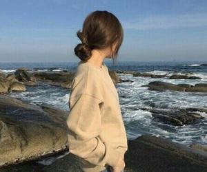 girl, sea, and aesthetic image