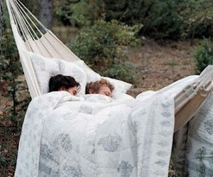 love, couple, and hammock image
