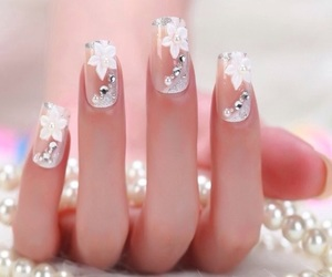 nails, white, and beautiful image