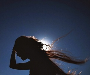 girl, sun, and hair image
