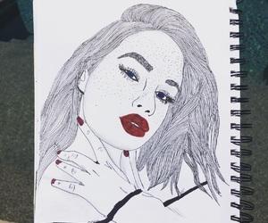 art, drawing, and pen art image