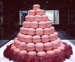 macaroons, pink, and raspberry image