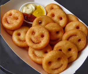 food, fries, and smile image