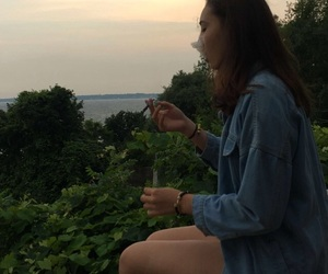 aesthetic, nature, and smoking image